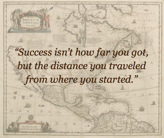 Success distance traveled quote
